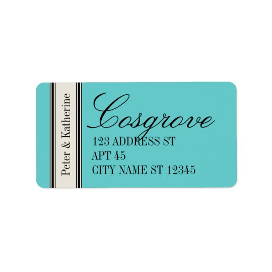 Vintage Classic Address Label, Blue Address Label