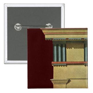 Vintage Classic Architecture Temple Entablature Pin
