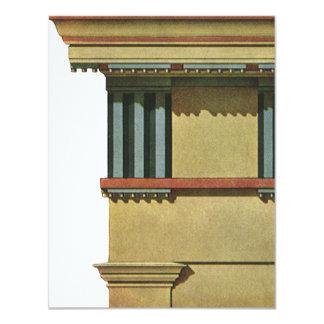 Vintage Classic Architecture, Temple Entablature Personalized Invites