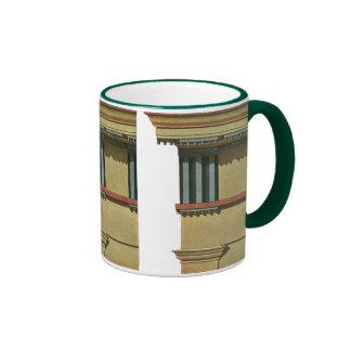 Vintage Classic Architecture, Temple Entablature Ringer Mug