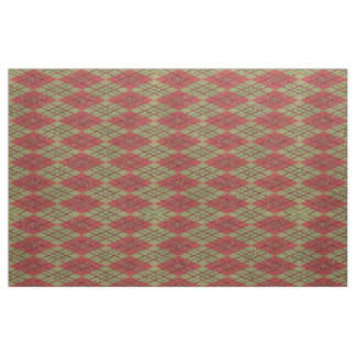 Vintage Classic Chic Argyle Plaid Tartan Pattern Fabric