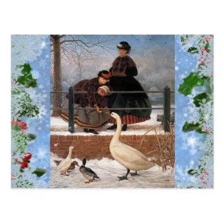 Vintage Classic Christmas Holiday postcard