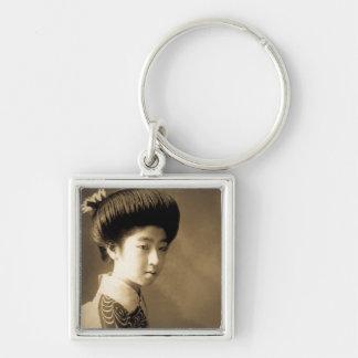 Vintage Classic Japanese Beauty Geisha 芸者 Japan Key Ring