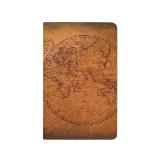 Vintage Classic Old World Travel Map Journal