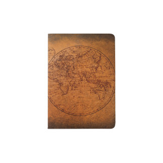 Vintage Classic Old World Travel Map Passport Holder