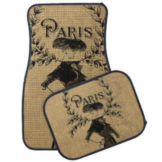 Vintage Classic Paris Lady Car Mat