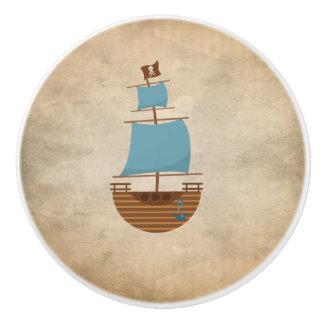 Vintage Classic Pirate Ship Compass Nursery Decor Ceramic Knob