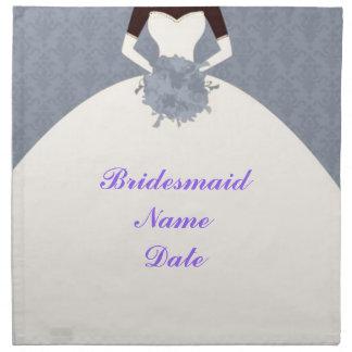 Vintage Classic Pretty Bridesmaid Napkin