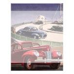 Vintage Classic Sedan Cars Driving on the Freeway Flyers