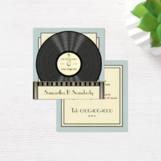 Vintage Classic Vinyl Record Square Business Card