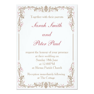 Vintage/Classic Wedding Invitation