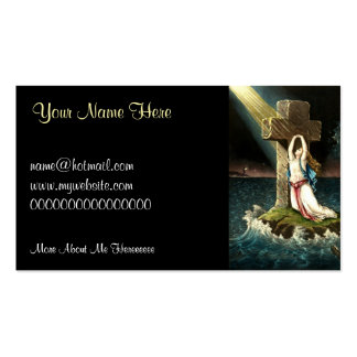 Vintage Clinging To Christ The Rock in Faith 1871 Business Card Template