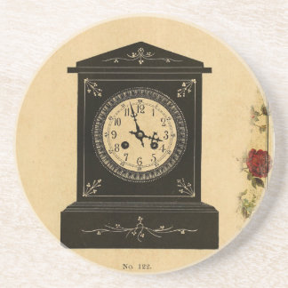 Vintage Clock Advertisement Coasters