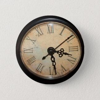 Vintage Clock Face Button