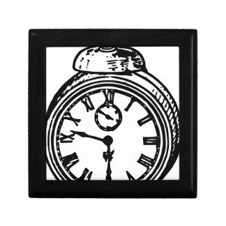 Vintage clock small square gift box