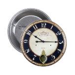 Vintage Clock Watch 6 Cm Round Badge