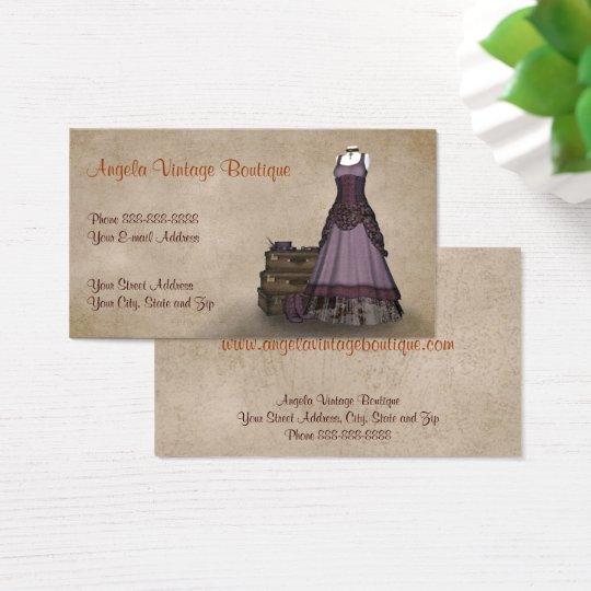 vintage clothing thrift shop boutique business business card zazzle au