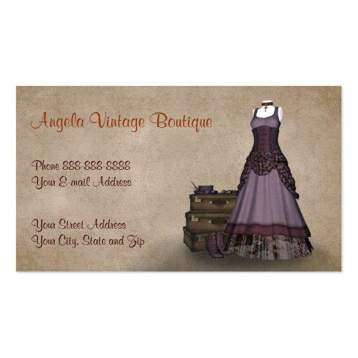 vintage clothing thrift shop boutique business business card templates zazzle