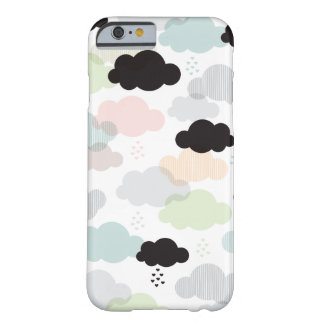 Vintage clouds scandinavian abstract sky pattern barely there iPhone 6 case