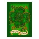 Vintage Clover St. Patrick's Day Party Invitation