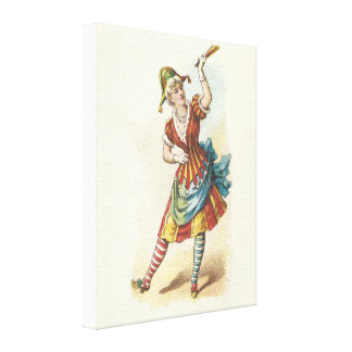 Vintage Clown Canvas Canvas Print