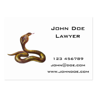 Vintage Cobra Snake Illustration Pack Of Chubby Business Cards
