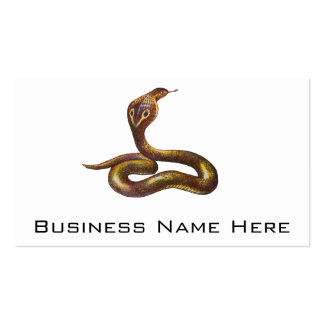 Vintage Cobra Snake Illustration Pack Of Standard Business Cards