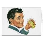 Vintage Cocktails Beverages, Man Drinking Drinks Cards