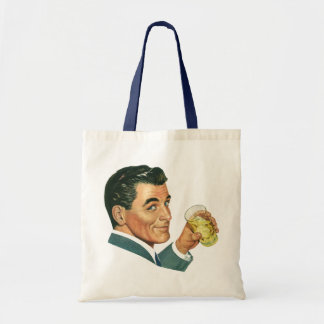 Vintage Cocktails Beverages, Man Drinking Drinks Tote Bag