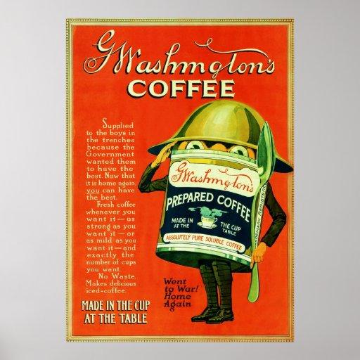 Vintage Coffee Advertisement. Posters