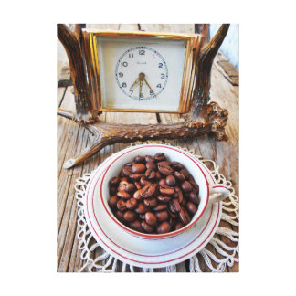 Vintage Coffee And Time Still Life Canvas Print