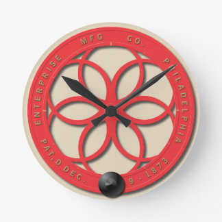 Vintage Coffee Grinder Wheel Round Clock
