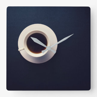 Vintage Coffee Photography Cafe Square Wall Clock
