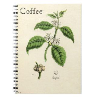Vintage Coffee Plant Spiral Notebook
