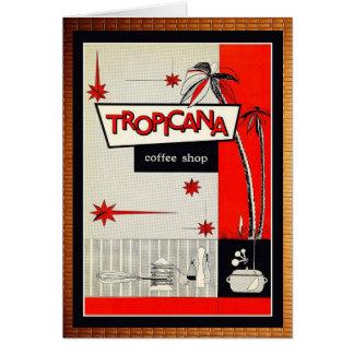 Vintage coffee shop kitsch! card