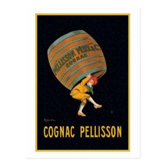 Vintage Cognac Pellisson Ad Postcard