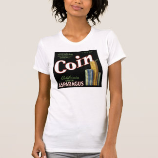 Vintage Coin Asparagus Crate Label Tshirts