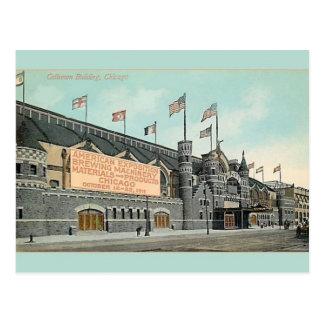 Vintage Coliseum Building Chicago Postcard