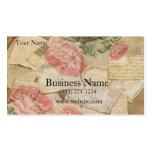 Vintage Collage, French Letters and Post Cards Pack Of Standard Business Cards