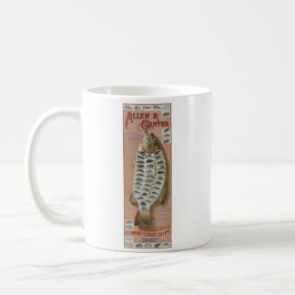 Vintage Collectible Cigarette Fish Stamps Basic White Mug