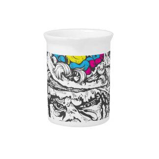 vintage color brains pitcher