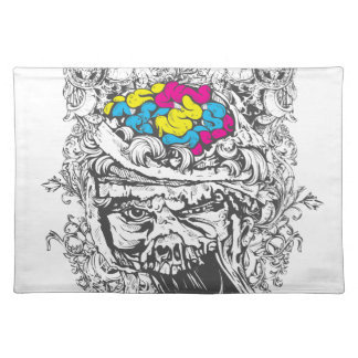 vintage color brains placemat