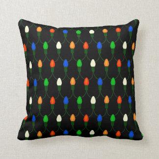 Vintage Colored Christmas Lights Novelty Holiday Cushion