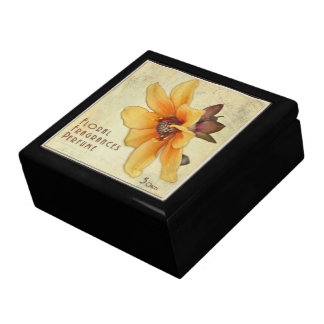 Vintage Colored Perfume Box Art - Decorative Box Large Square Gift Box