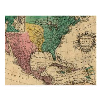 Vintage Colorful America Map Postcards
