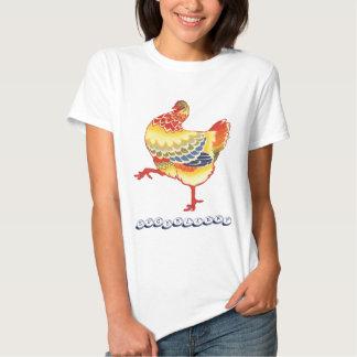 Vintage Colorful Barnyard Chicken, Eggsellent Shirts