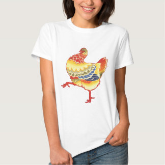 Vintage Colorful Barnyard Chicken from Farm Tee Shirts