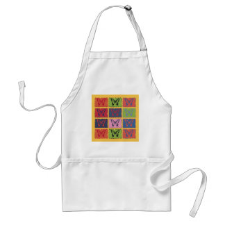 Vintage Colorful Butterfly Fine Art Standard Apron