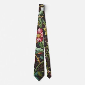 Vintage Colorful Floral Necktie
