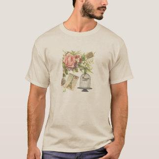 Vintage Colorful Floral Paris Postage T-Shirt